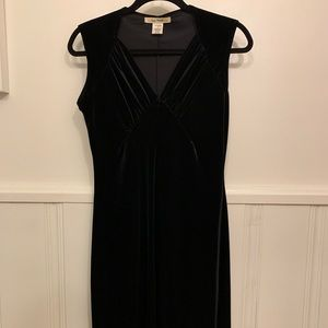 EUC Free People Black Velvet Dress